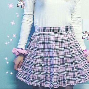 Baby Pink Schoolgirl Pleated Lolita Tennis Skirt